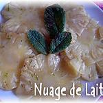recette Carpaccio d'Ananas à L'Antillaise