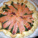 recette Tarte au saumon fumé et épinards