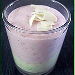 recette Verrines de mousses fraises-pistaches