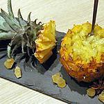 recette Ananas Victoria à la poire vanillée