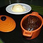 recette Mousse de chocolat cuite et sa boule de vanille