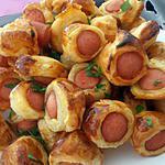 recette petits feuilletées à la saucisse spécial crémaillère