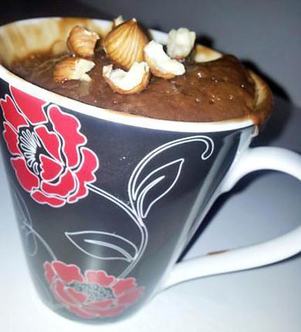 recette de mug cake au nutella. Black Bedroom Furniture Sets. Home Design Ideas