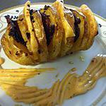 """recette """"Libritos de Papas con jamon curado y queso...(P.D.Terre au four garnies de fromage et jambon cru....)"""
