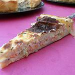 recette tarte aux petits pois et cubes de saumon fumé (crémaillère)