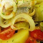recette Salade de harengs-pommes à l'huile