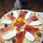 recette PIZZA AU JAMBON CRU
