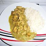 recette Curry de poulet au lait de coco