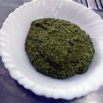 recette Purée de petits pois et champignons au curcuma - Recette pour les p'tits chous