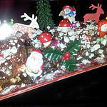 recette Bûche de Noel au chocolat tolberone enneigés de meringues