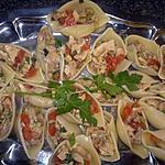 recette Coquillage au poulet et aux olives