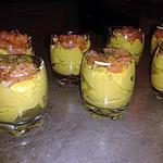 recette verrine guacamole-saumon