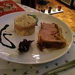 palette en croute et assortiment pommes de terre foie gras!