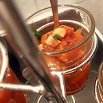 recette verrine poivron grillé-petits lardons (apéro de noël)