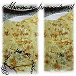 recette Msemen au fromage/persil