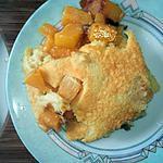 recette Clafoutis à la mangue et aux noix de coco...