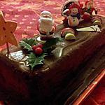 Bûche de noel 'lingot' au chocolat et créme de marrons