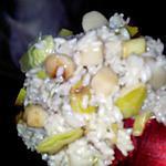 Risotto aux noix de saint jacques et poireaux