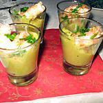 recette Verrines de crevettes sur lit de poireaux