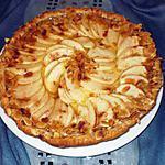 recette tarte aux pommes crème et amandes
