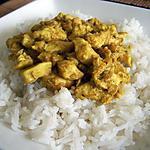 recette Poulet au curry et a la banane