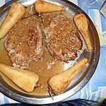 recette Cotes de porc a la moutarde de meaux et panais glaçés
