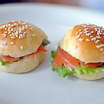 recette Mini hamburger au saumon pour apéro
