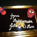 recette Trois chocolat SPIDERMAN