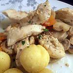 recette poulet aux champignons (recette dukan)