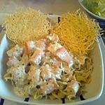 recette pâtes aux surimi aux chips de gruyère