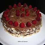 recette Gâteau chocolat/framboises