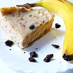 recette Cheesecake banane, chocolat, noix