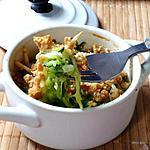 recette Crumble de fromage frais aux courgettes et basilic