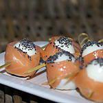 recette oeufs de caille au saumon fumé
