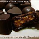 recette Chocolat  fourré à la crème caramel au beurre salé aux noix