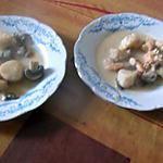 recette saint jacques et crevettes au beurre blanc