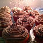 Cupcake fourrés au nutella glaçage au chocolat