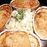 Escalopes de veau a la parisienne et gratinées