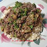 recette Boeuf et brocoli en sauce avec riz