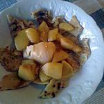 recette tagliatelles de crêpes aux pommes caramélisées