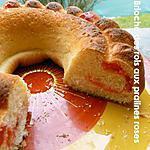 recette Couronne des rois aux pralines roses