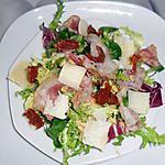 recette salade italienne pancetta grillée et parmesan
