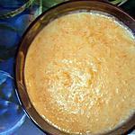 """recette Soupe """"Citrouille au lait de coco et riz salé"""" (la soupe de mon enfance)"""