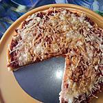 """recette Pizza viande haché avec """"la pâte de pizza de Jeanmerode"""""""
