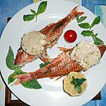 Rougets barbets au beurre d anchois