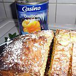 recette cake aux pêches et amande