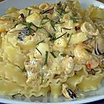 recette Mafaldines aux fruits de mer