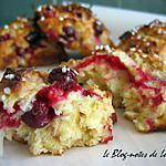 recette Cramiques aux cranberries et à la noix de coco