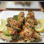 recette brochettes de poulet au sésame