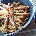 recette Ramen et son sautés de crevettes sauce cantonnaise